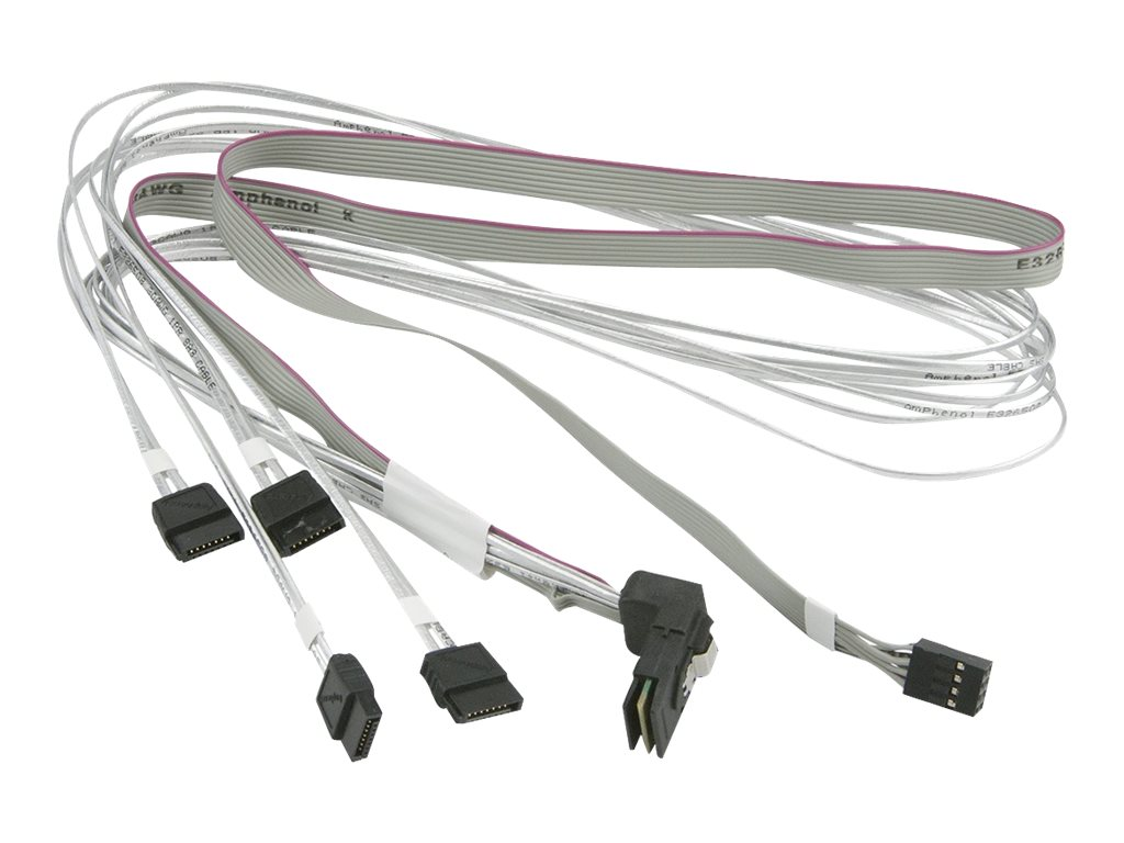 Supermicro iPass to 4x SATA Cable, 75cm
