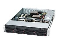 Supermicro 2U Chassis, E-ATX ATX Support, 7xSlots, 8xSAS SATA HS Bays, 560W PSU, Black, CSE-825TQ-563LPB, 11888130, Cases - Systems/Servers