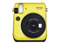 Fujifilm Instax Mini 70 Instant Film Camera, Canary Yellow, 16496122, 31176519, Cameras - Film