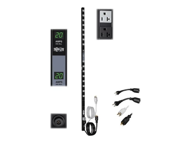 Tripp Lite PDU Metered Dual Circuit 120V 20A (32) 5-15 20R Vertical 0U RM, PDUMV40, 7397910, Power Distribution Units