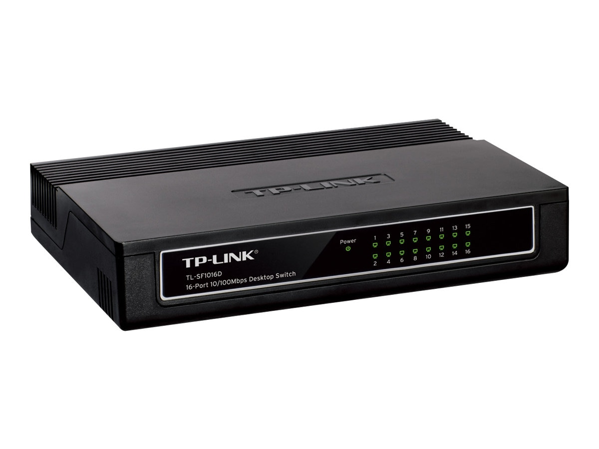 TP-LINK 16-Port 10 100Mbps Desktop Switch, 3.2Gbps Capacity, TL-SF1016D