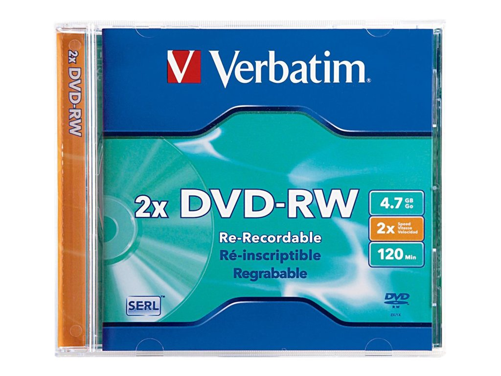 Verbatim DVD-RW x 1, 4.7GB,  storage media