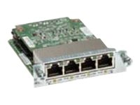 Cisco 4Pt. 10 100 1000 Ethernet Switch I F Card PoE, EHWIC-4ESG-P=, 11944162, Network Device Modules & Accessories