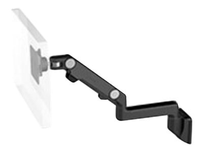Humanscale M8 Arm with Hardwall Mount, Black with Black Trim