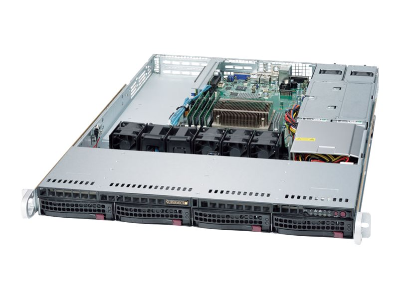 Supermicro Barebones, SuperServer 5019S-WR 1U RM E3-1200 v5 Family Max.64GB DDR4 4x3.5 HS Bays 3xPCIe 2xGbE, SYS-5019S-WR, 31086652, Barebones Systems