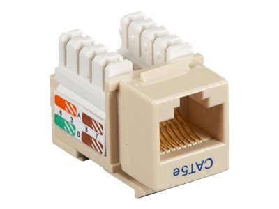 Black Box Connect CAT5e RJ-45 Keystone Jack, Unshielded, Ivory