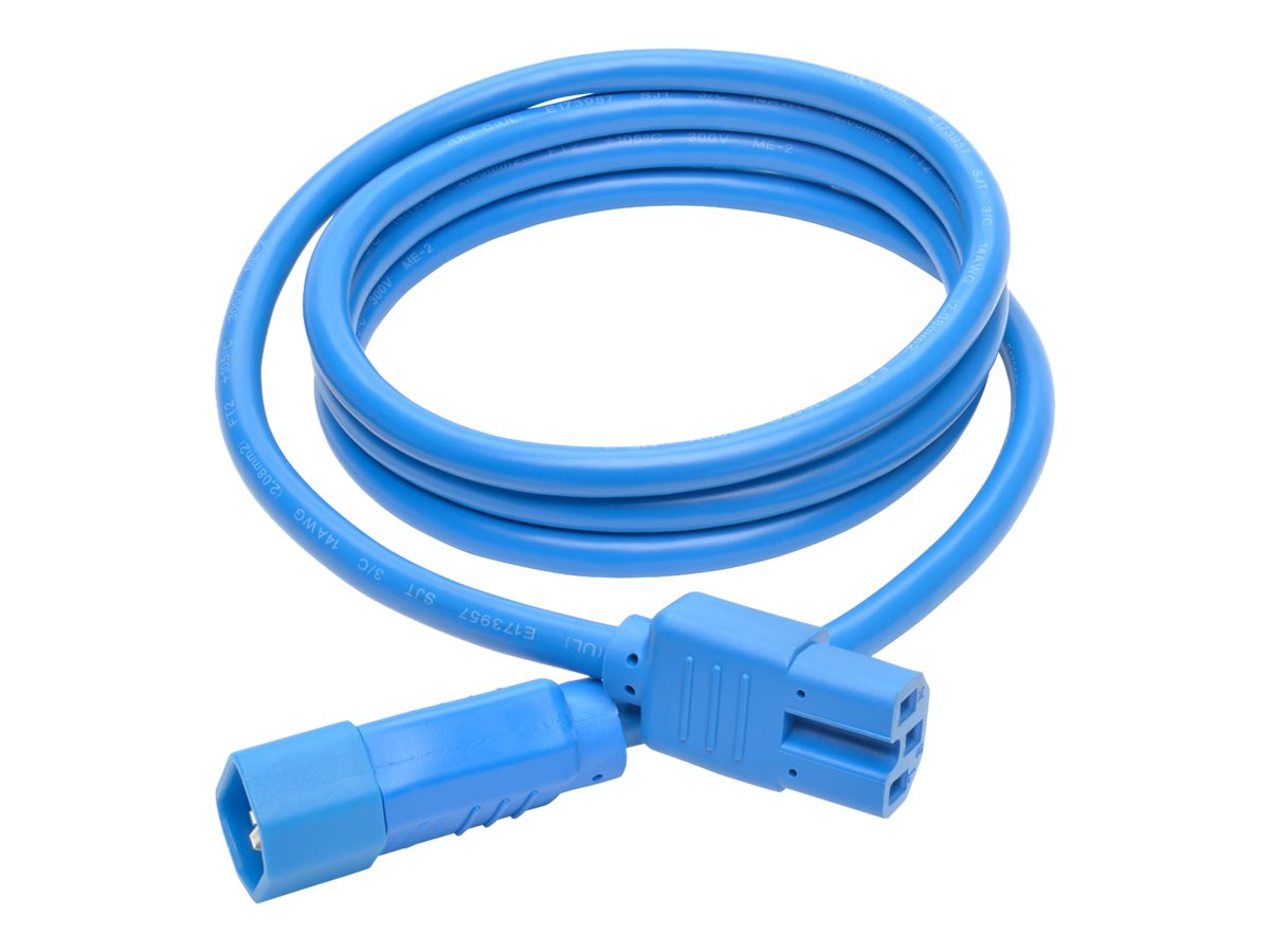 Tripp Lite Heavy Duty Computer Power Cord, 15A, 14AWG IEC-320-C14 to IEC-320-C15, Blue, 6ft, P018-006-ABL