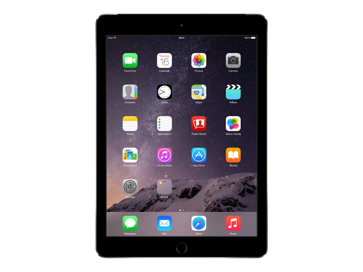 Apple iPad Air 2, 16GB, Wi-Fi+Cellular for Apple SIM, Space Gray, MH2U2LL/A, 17954441, Tablets - iPad