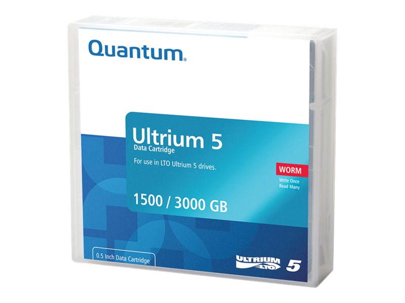 Quantum 1.5 3TB LTO-5 Ultrium WORM Data Cartridge, MR-L5MQN-02, 11221837, Tape Drive Cartridges & Accessories