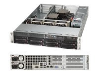 Supermicro Barebone, E5-2600 Series, 2U, X9DRW-IF