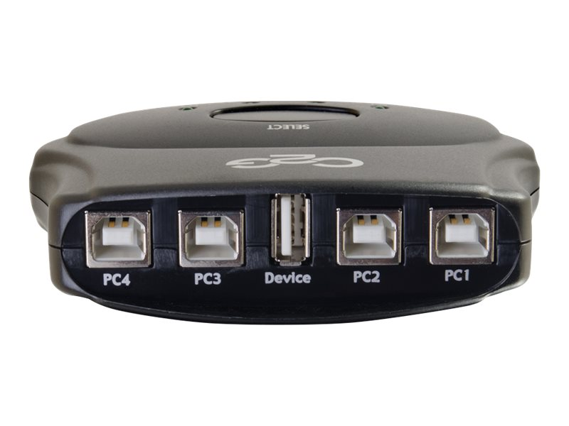 C2G 4-Port USB 2.0 Manual Switch, 30506