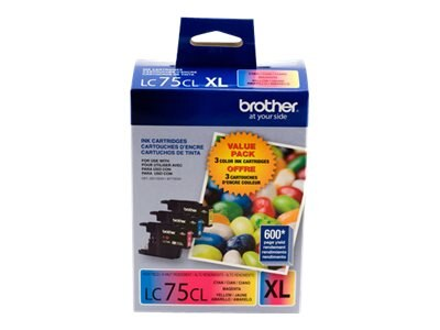 Brother Cyan, Yellow &  Magenta Innobella High Yield XL Ink Cartridges for MFC-J6510DW MFC-J6710DW (3-pack)