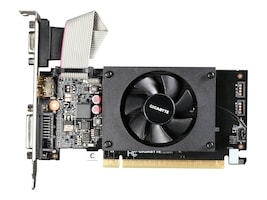 Gigabyte Tech GeForce GT710 PCIe 2.0 Low-Profile Graphics Card, 1GB DDR3, GV-N710D3-1GL, 31493856, Graphics/Video Accelerators