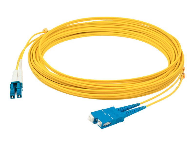ACP-EP ASC to LC OS1 Singlemode Duplex LSZH Fiber Cable, Yellow, 7m