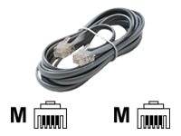 Steren Steren 4-Conductor Line Cord with Plug Connector, Silver, 7ft, 304-007SL, 9528311, Cables