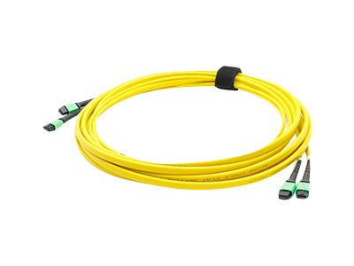 ACP-EP Fiber SMF Trunk 24 2MPO x 2MPO Female Type A OS1 Cable, 1m, ADD-TC-1M24-2MPF1