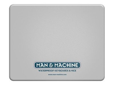 Man & Machine Washable Silicone Mousepad, Gray (5-Pack), MPAD/G5