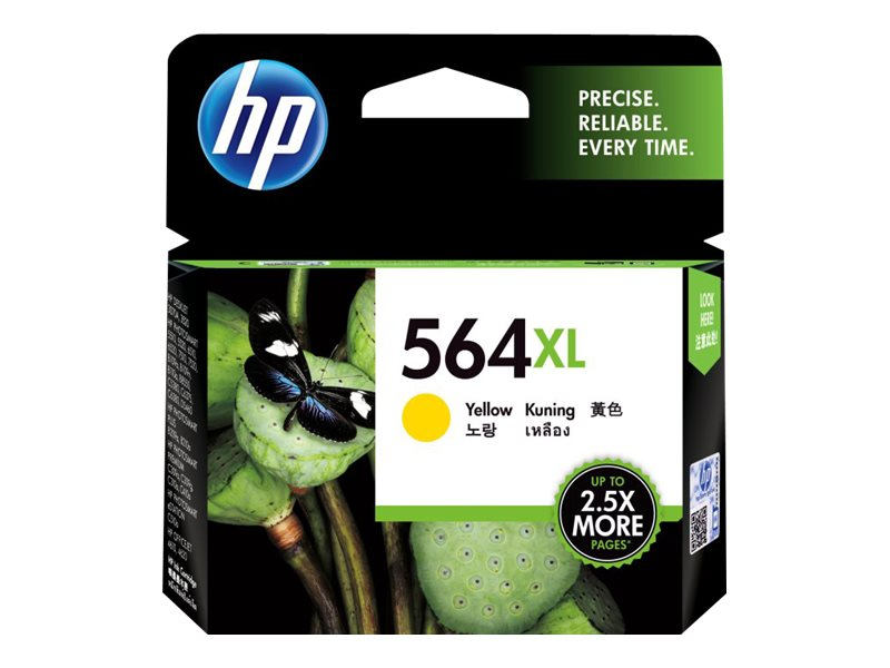 HP 564XL (CB325WN) High Yield Yellow Original Ink Cartridge, CB325WN#140, 8608192, Ink Cartridges & Ink Refill Kits