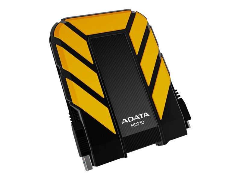 A-Data DashDrive Durable Series HD710 External Hard Drive - Yellow