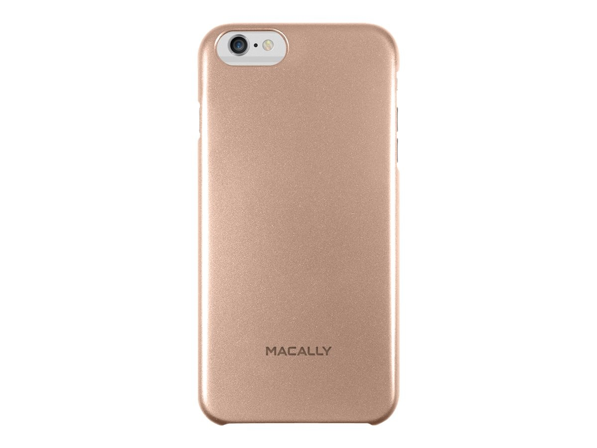 Macally Metallic Snap-On Case for iPhone 6 6s Plus, Champagne, SnapP6LCH, 17923637, Carrying Cases - Phones/PDAs