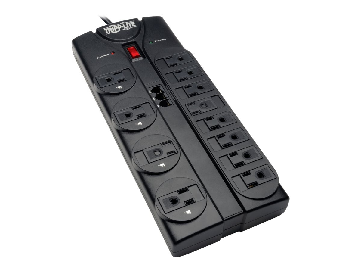 Tripp Lite Protect It! Surge Protector 2160 Joules (12) Outlets 8ft Cord Telephone, TLP1208TEL, 10967047, Surge Suppressors