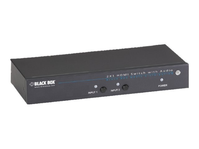 Black Box 2x1 HDMI Switch, AVSW-HDMI2X1, 17958362, Switch Boxes - AV