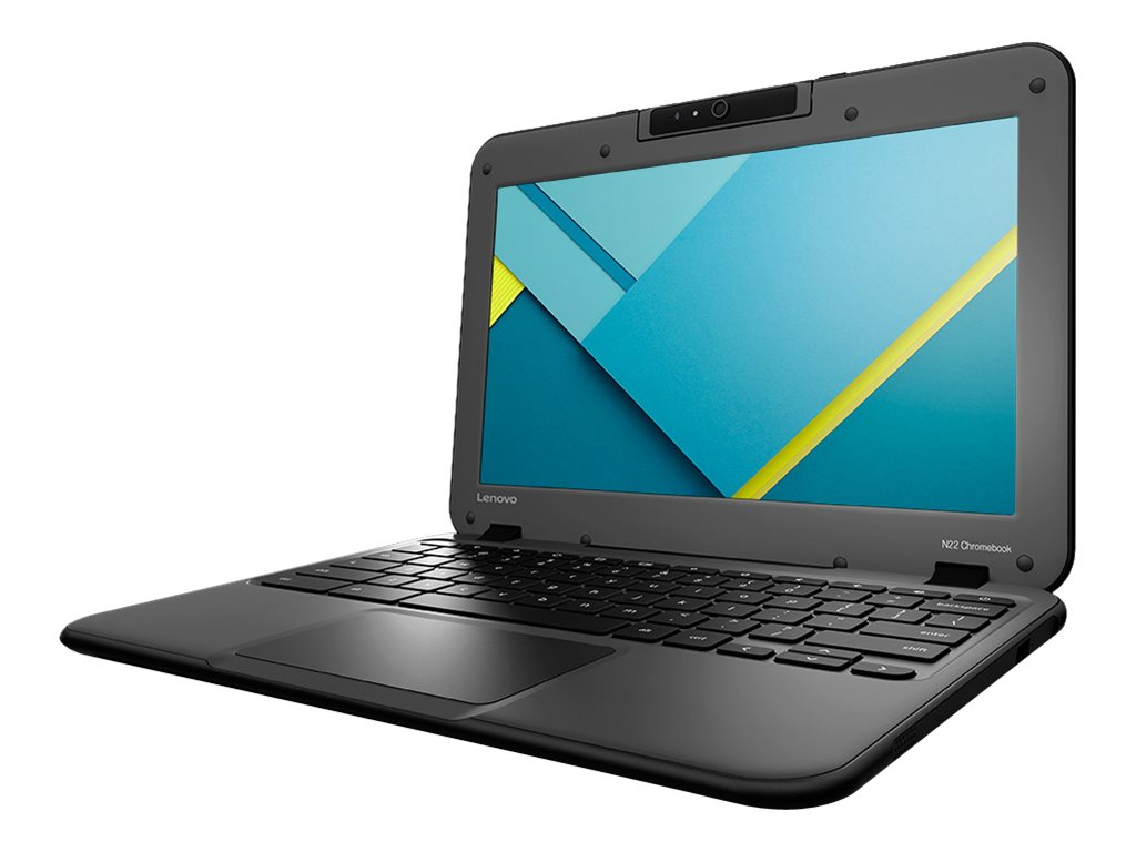 Open Box Lenovo N22 Chromebook Celeron N3050 1.6GHz 4GB 16GB ac abgn BT WC 11.6 HD Chrome OS, 80SF0001US