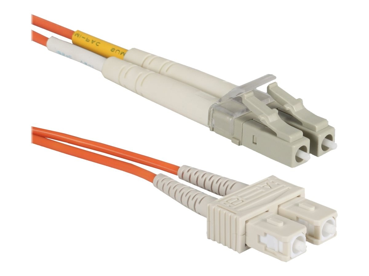 QVS Fiber Patch Cable, LC-SC, Duplex, Multimode, 2m, FDLCSC-2M