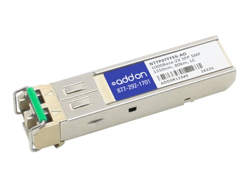 ACP-EP SFP 80KM ZX LC NTTP07FFE6 TAA XCVR 1-GIG ZX SMF LC Transceiver for Ciena