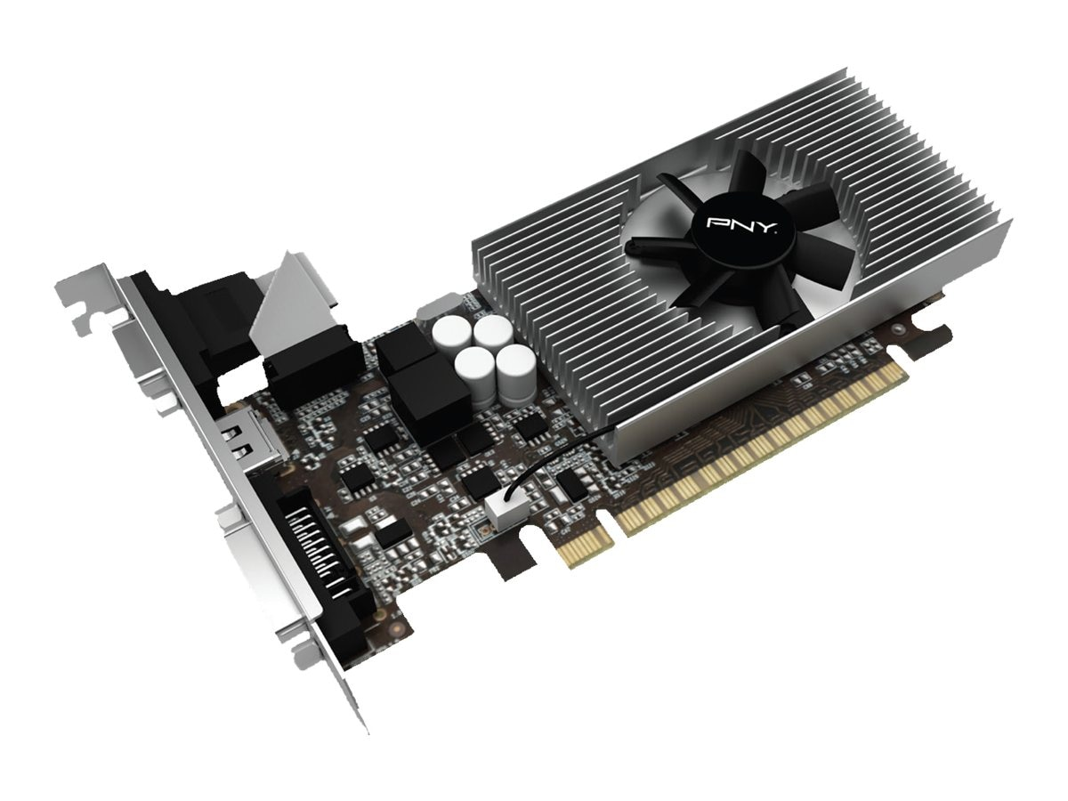 PNY GeForce GT 730 PCIe Graphics Card, 2GB DDR3, VCGGT7302D3LXPB
