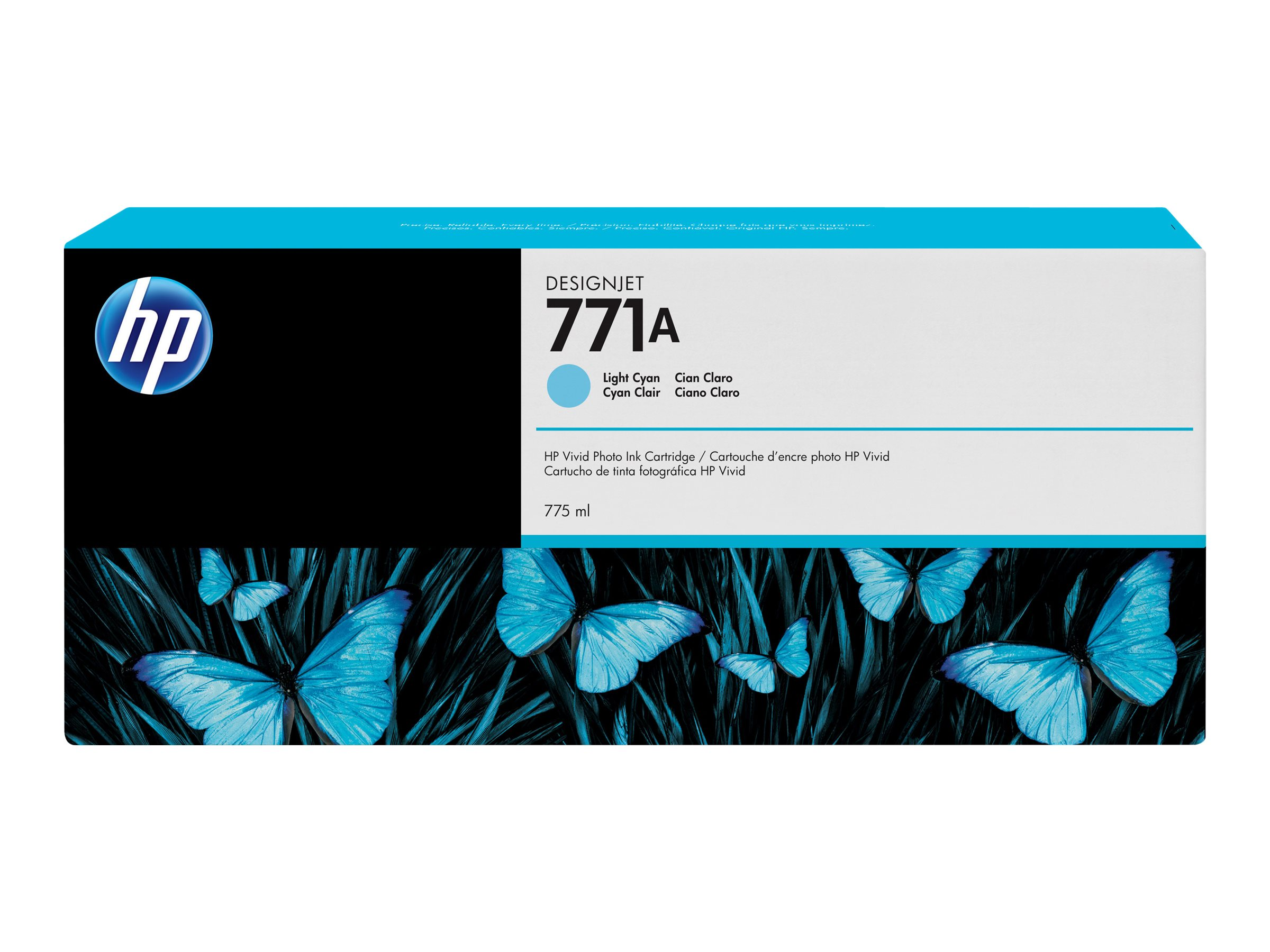 HP 771A 775ml Light Cyan Designjet Ink Cartridge