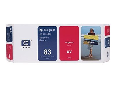 HP 83  Magenta UV Ink Cartridge, C4942A, 301549, Ink Cartridges & Ink Refill Kits