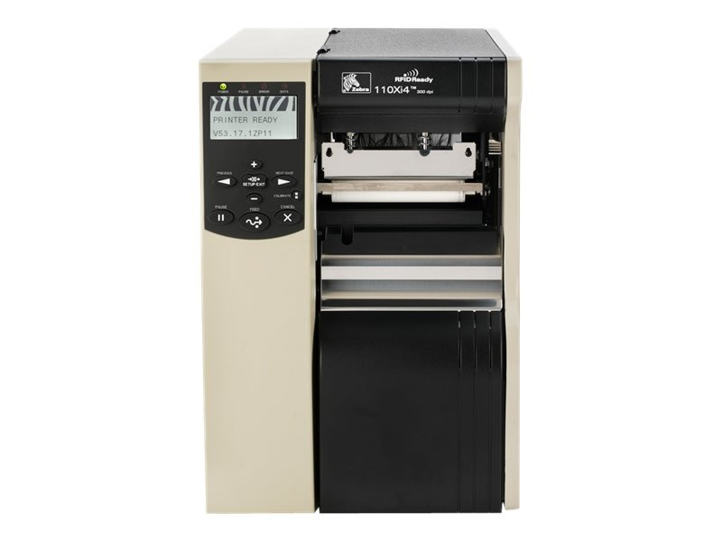 Zebra 140XI4 203dpi RS-232 Serial Parallel USB Ethernet 16MB Printer w  ZPL XML & Power Supply, 140-801-00000