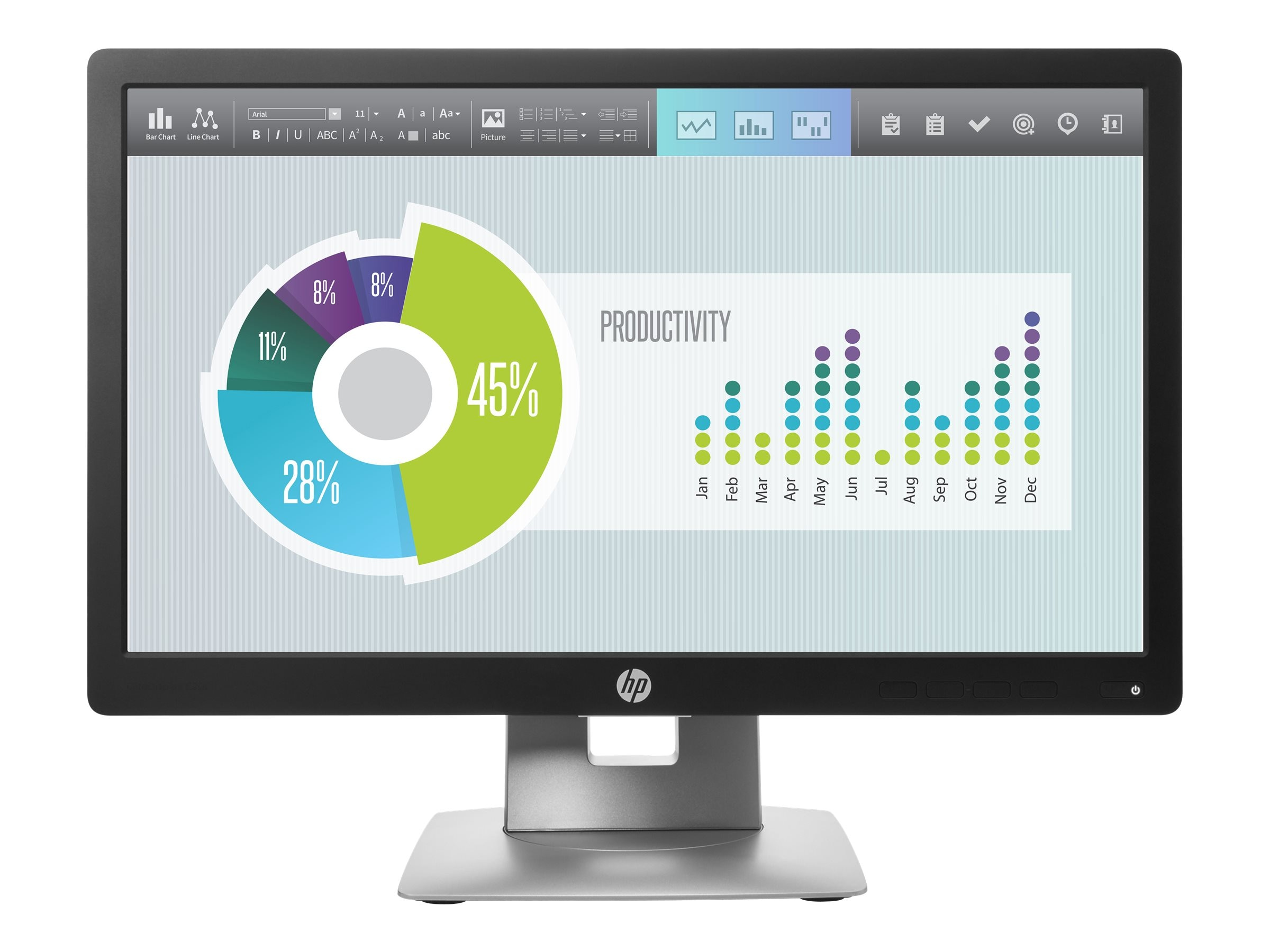 HP 20 E202 LED-LCD Monitor, Black (Head Only)