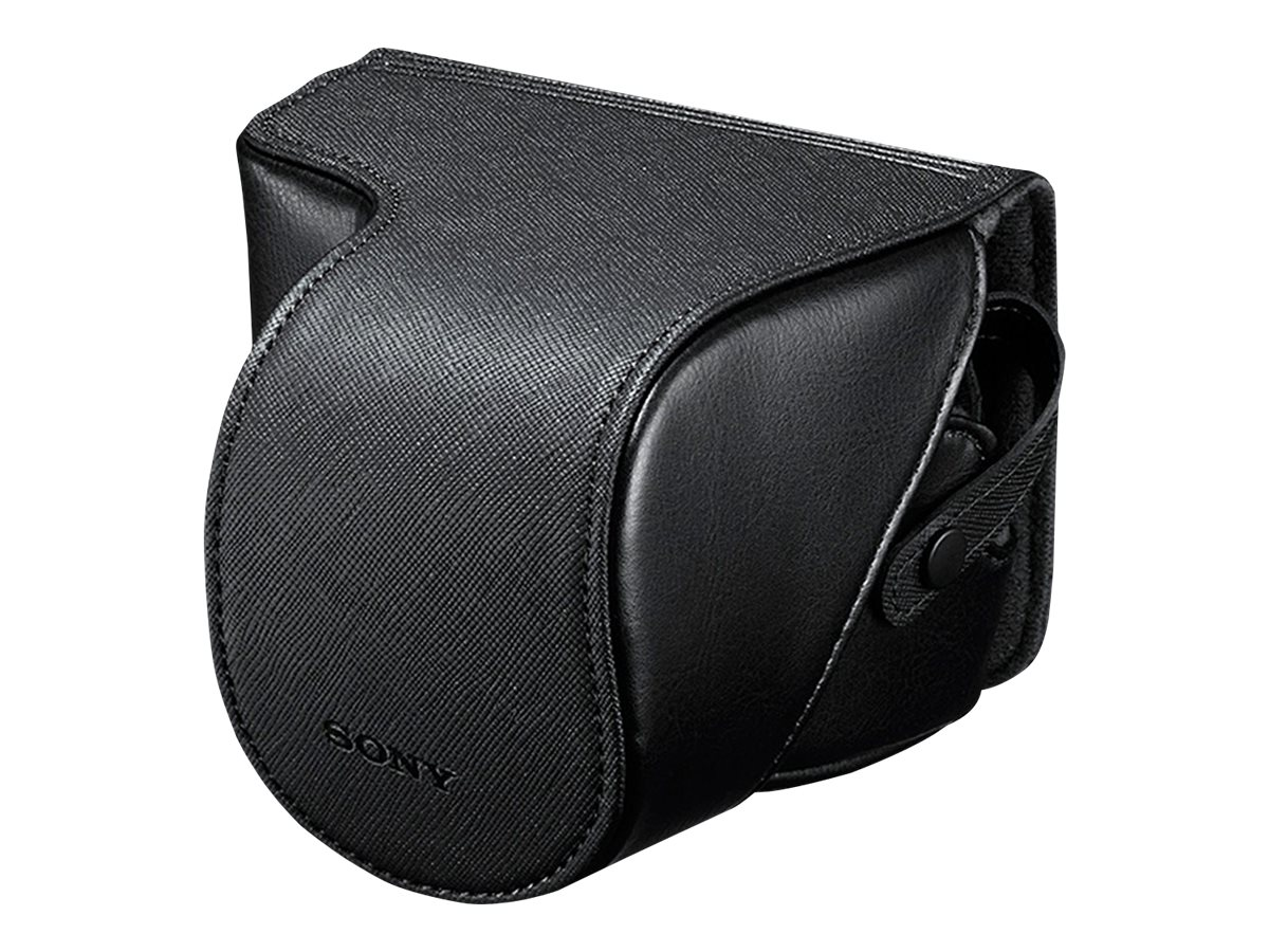 Sony NEX Leather Like Jacket,  Fits up to SEL1855, LCSEJC3/B