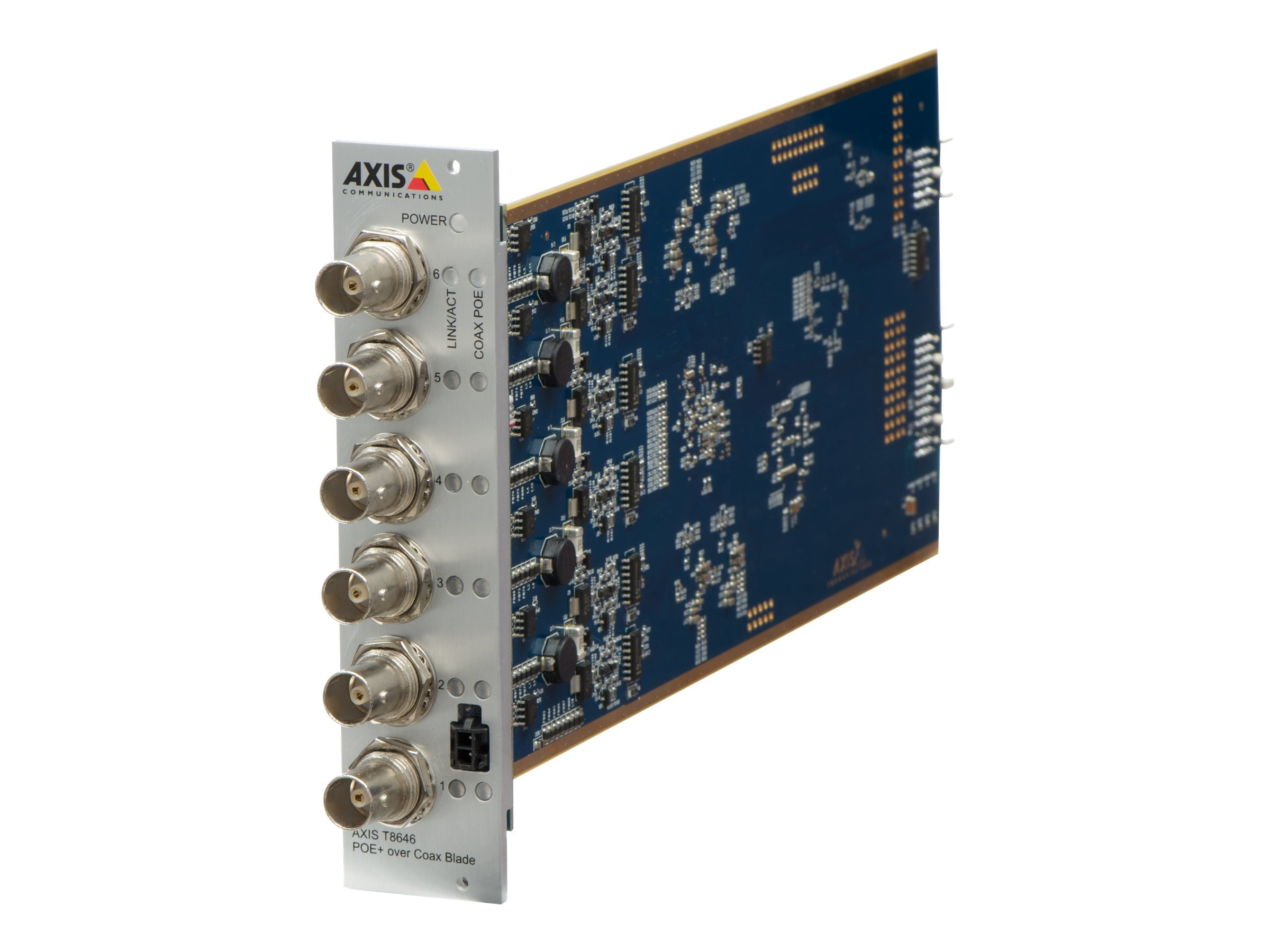 Axis T8646 PoE+ Over Coaxial 6-Channel Blade, 5026-461, 25488356, PoE Accessories