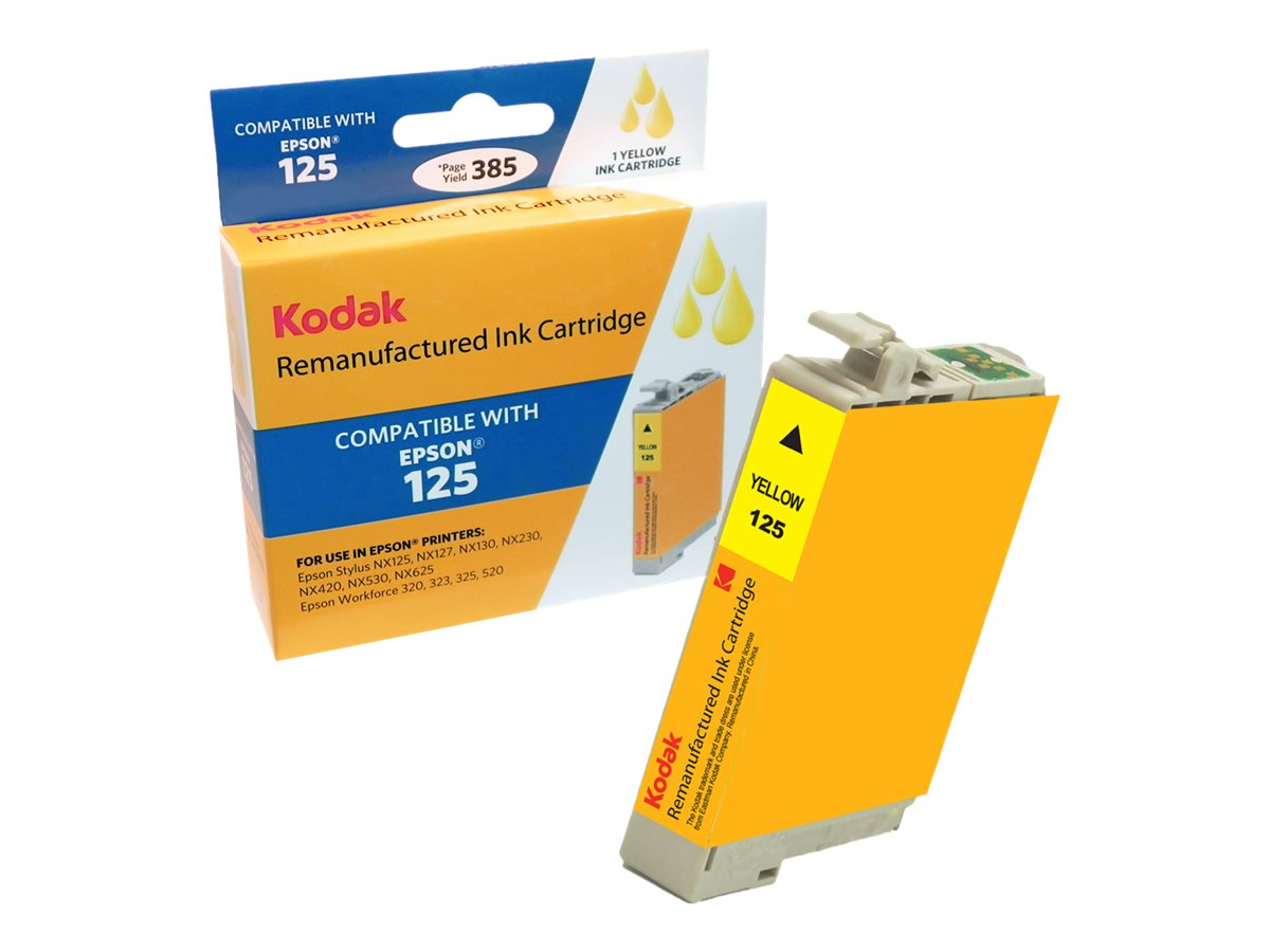Kodak T125420 Yellow Ink Cartridge for Epson Stylus NX125, T125420-KD
