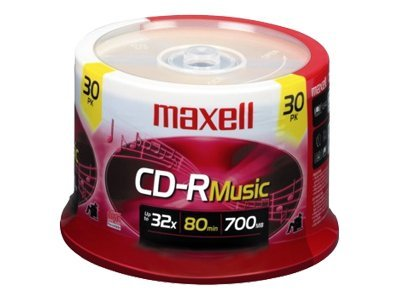 Maxell CD-R80 Music (30-pack Spindle), 625335