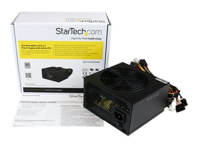 StarTech.com 530 Watt ATX12V 2.3 80 Plus Computer Power Supply w  Active PFC, ATX2PW530WH, 16394825, Power Supply Units (internal)