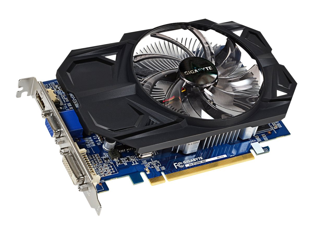 Gigabyte Tech Radeon R7 250 PCIe 3.0 x16 Overclocked Graphics Card, 2GB DDR3