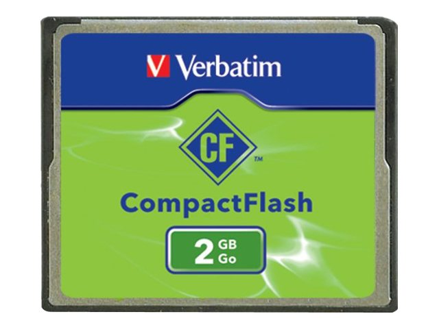 Verbatim 2GB CompactFlash Card, 47012, 443805, Memory - Flash