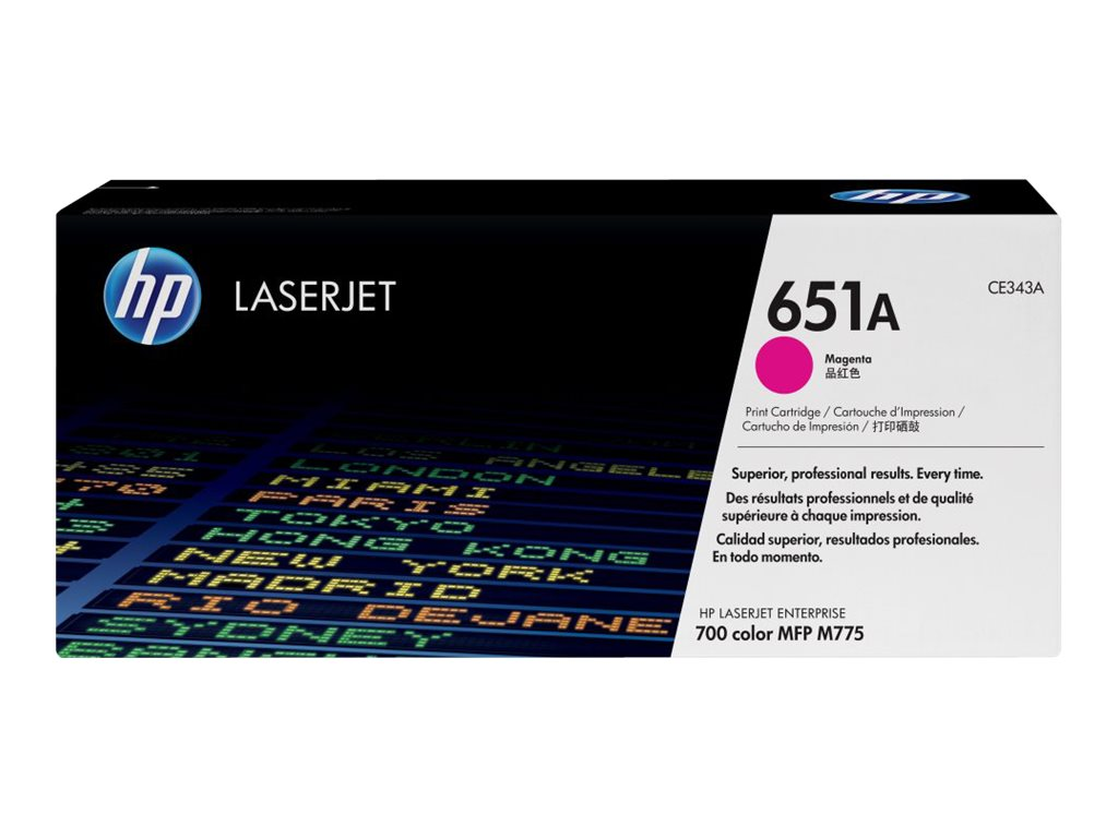 HP 651A (CE343A) Magenta Original LaserJet Toner Cartridge, CE343A, 14974965, Toner and Imaging Components