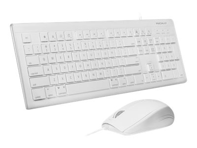 Macally 103-Key Full-Size USB Keyboard w  Shortcut Keys and (3) Button USB Optical Mouse Combo