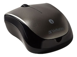Verbatim Bluetooth Wireless Tablet Multi-Trac Blue LED Mouse, Black Gray, 98590, 30542759, Mice & Cursor Control Devices