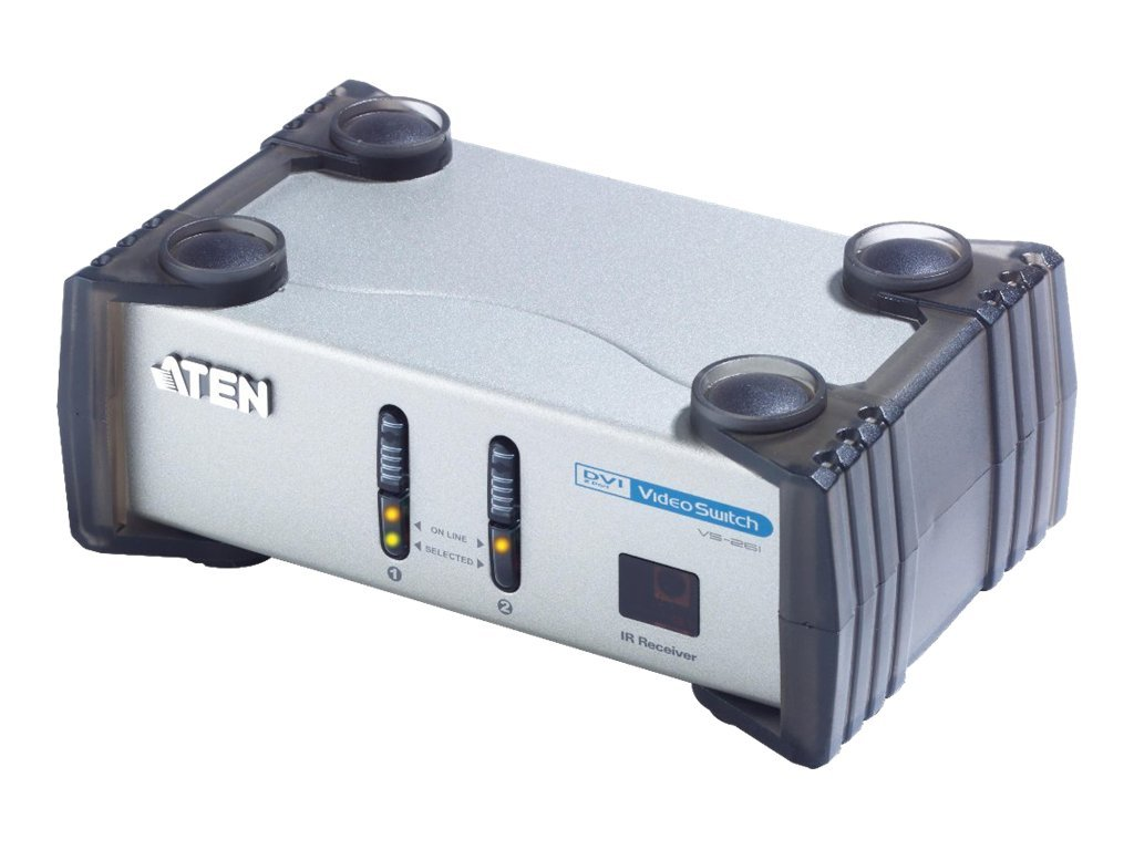 Aten 2-Port DVI Video Switch With Audio, VS261, 6605975, Switch Boxes - AV