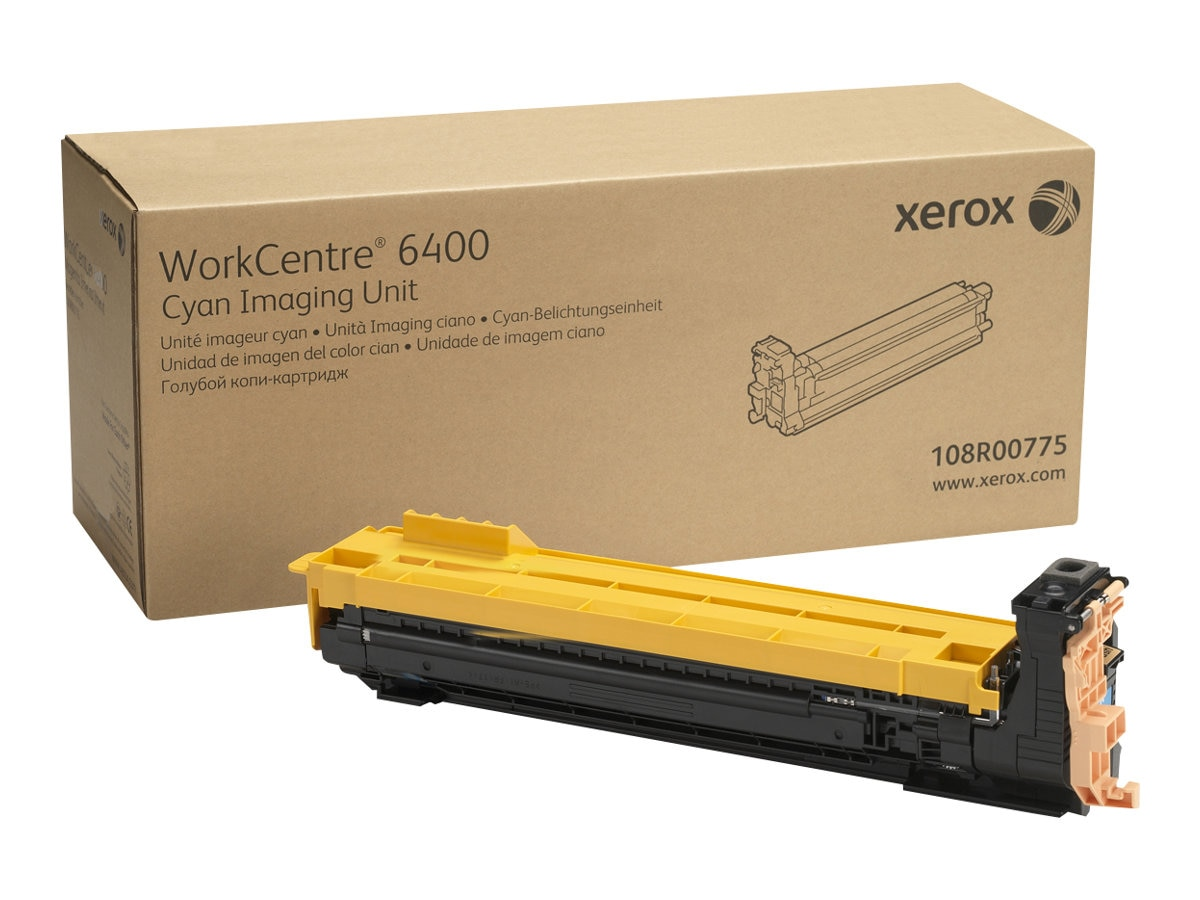 Xerox Cyan Drum Cartridge for WorkCentre 6400, 108R00775, 9895955, Toner and Imaging Components