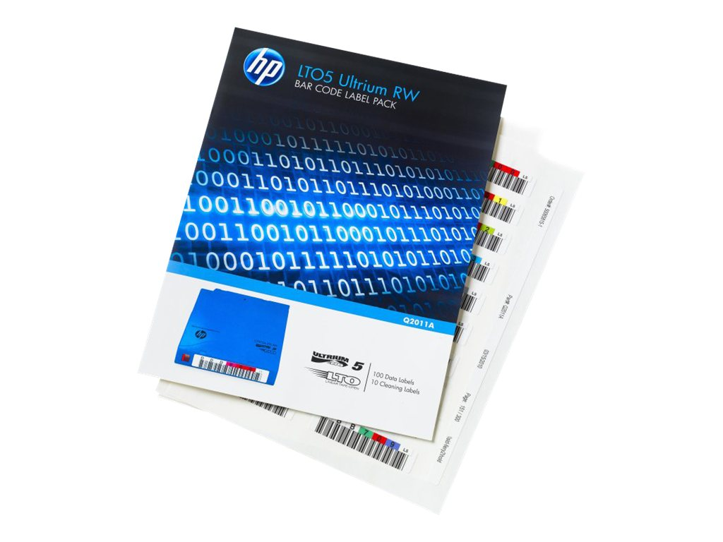 HPE LTO-5 Ultrium RW Bar Code Label Pack, Q2011A
