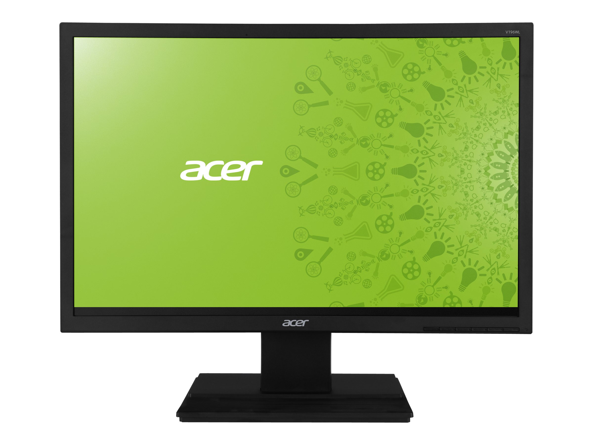 Acer 19 V196WL B LED-LCD Monitor, Black, UM.CV6AA.001, 15482946, Monitors - LED-LCD