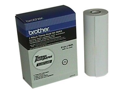 Brother Thermal Plus 164' Fax Paper (2 Rolls), 6895, 6695270, Paper, Labels & Other Print Media