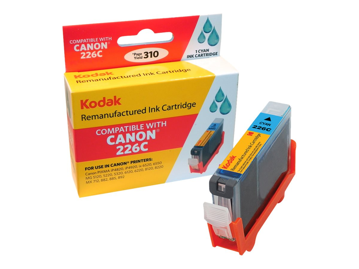 Kodak 4547B001 Cyan Ink Cartridge for Canon, CLI-226C-KD, 31286398, Ink Cartridges & Ink Refill Kits
